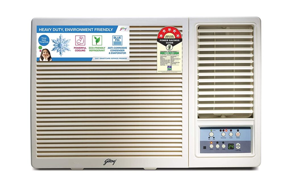 Godrej 1 Ton 5 Star Window AC (Copper GWC 12UTC5-WSA White)