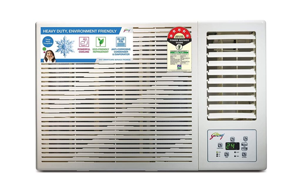 Godrej 1.5 Ton 5 Star Window AC (Copper AC 1.5T GWC 18DTC5-WSA Window White)