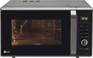 LG 28 L Charcoal Convection Microwave Oven  (MJ2886BFUM, Black)