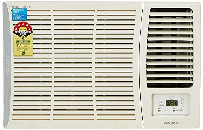 Voltas 1 Ton 5 Star Window AC - White  (125 DZA (R32)/125DZA, Copper Condenser)