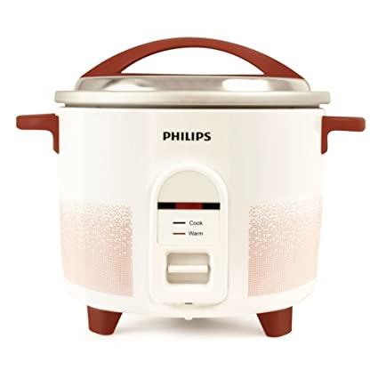 Philips HL1663/00 Electric Rice Cooker  (1.8 L, White & pistil red)