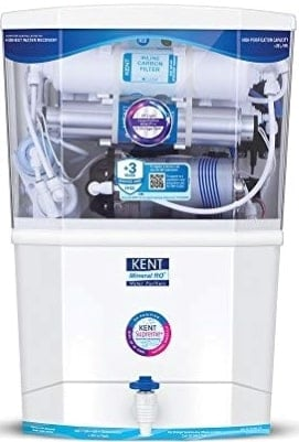 KENT Supreme 2020 (11111), Wall Mountable, RO + UF + TDS Control + UV in Tank, 8 L Tank, White, 20 LPH Water Purifier