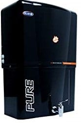Ruby Alkaline Black Water Purifier with Copper + RO + UF + UV + TDS Control 12 Litres Storage & One TDS meter