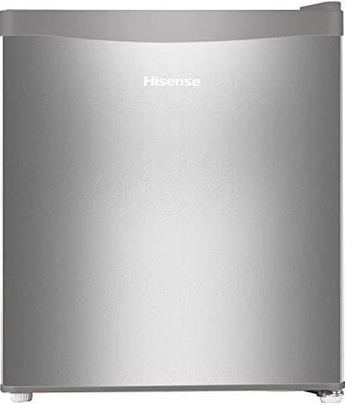 Hisense 44 L 1 Star Direct-Cool Single Door Minibar Refrigerator with reversible door (RR60D4ASB1, Silver)