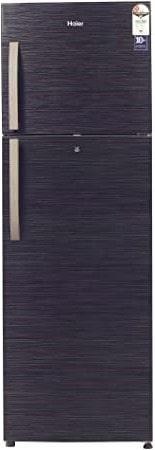 Haier 347 L 2 Star Frost-Free Double Door Refrigerator (HRF-3674BKS-E, Black Brushline)