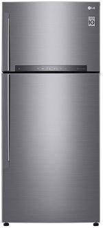 LG 516 L 3 Star Inverter Frost-Free Double Door Refrigerator (GN-H602HLHQ, Platinum silver)