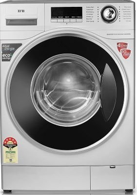 IFB 8 Kg 5 Star Fully-Automatic Front Loading Washing Machine (Senator plus SX, Silver, in-built heater)