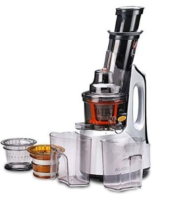 AGARO 33293 Imperial 240-Watt Slow Juicer with Cold Press Technology (Grey & Black)-min