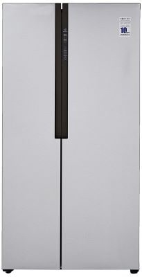 Haier 565 L Inverter Side-by-Side Door Refrigerator (HRF-619SS, Silver)-min