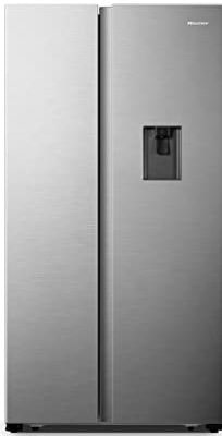 Hisense 566 L Frost-Free Side-By-Side Refrigerator with Water Dispenser (RS670N4ASN, Stainless steel)-min