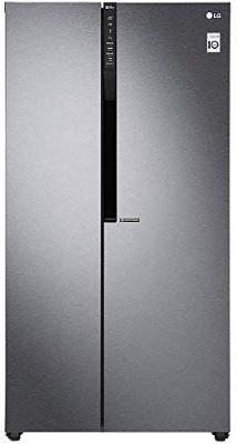 LG 679 L Inverter Frost-Free Side-by-Side Refrigerator(GC-B247KQDV.ADSQEBN, Graphite steel)-min