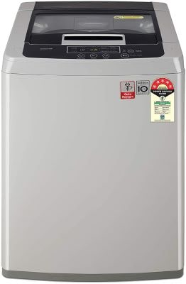 LG 7.0 Kg 5 Star Smart Inverter Fully-Automatic Top Loading Washing Machine (T70SKSF1Z, Middle Free Silver)-min