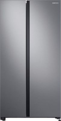 Samsung 700 L Inverter Frost-Free Side-by-Side Refrigerator (RS72R5001M9TL, Gentle Silver Matt, SpaceMax Technology)-min